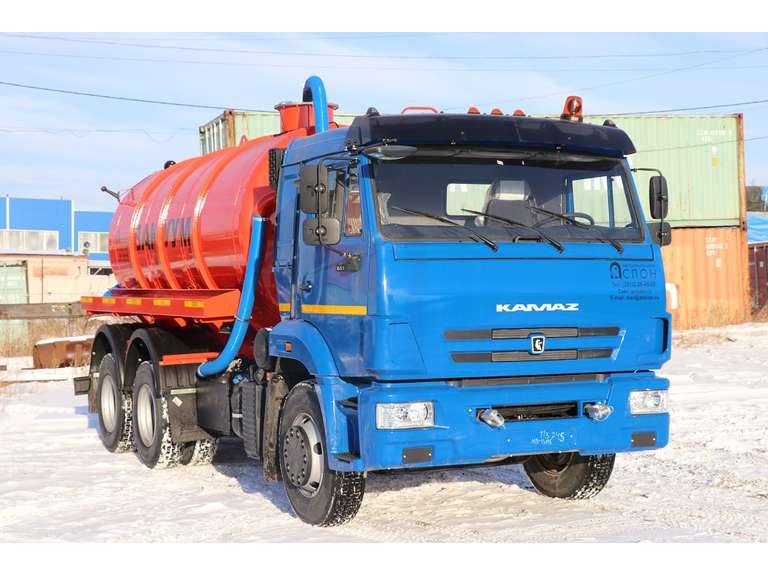 Вакуумная машина МВ-13 на шасси КАМАЗ 65115