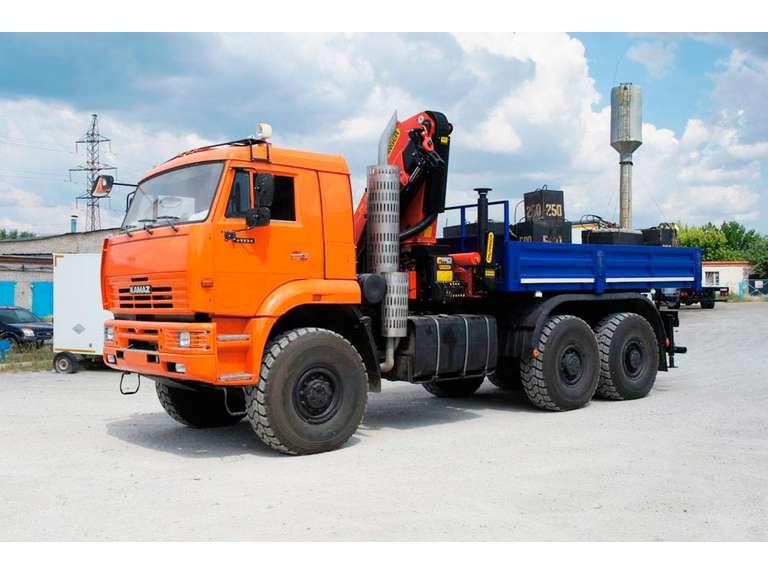 Бортовой автомобиль КАМАЗ 65224 с КМУ Palfinger