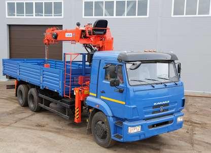 Бортовой автомобиль КАМАЗ 65117 с КМУ Kanglim