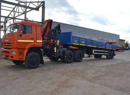 Седельный тягач КАМАЗ 65225 с КМУ