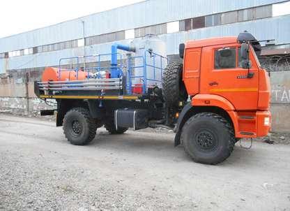 Агрегат депарафинизации скважин АДПМ на шасси КАМАЗ 43502-45
