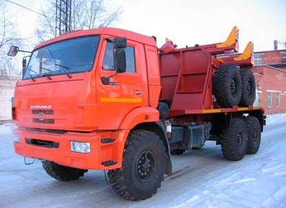 Трубовоз КАМАЗ 43118 с прицепом-роспуском