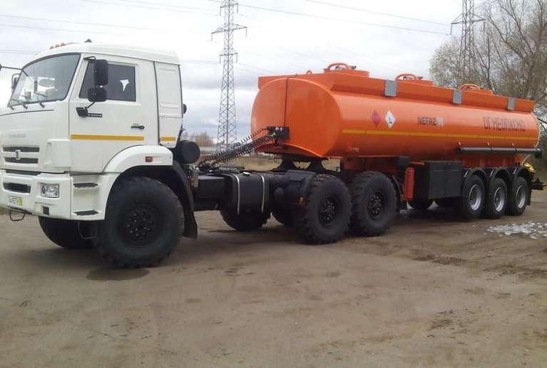 Прицеп-бензовоз НЕФАЗ 96931-0301328-07 (под высокое седло)