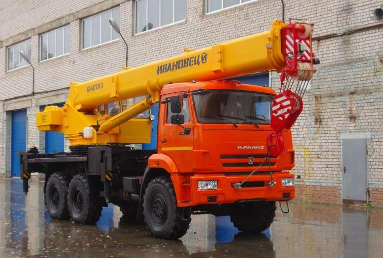 Автокран ИВАНОВЕЦ КС-45717К-3 (ОВОЙД) на шасси КАМАЗ-43118