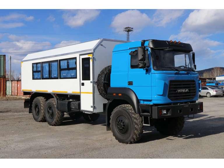 Вахтовый автобус на шасси Урал Бескапотный 4320-4971-80Е5 (22 места)