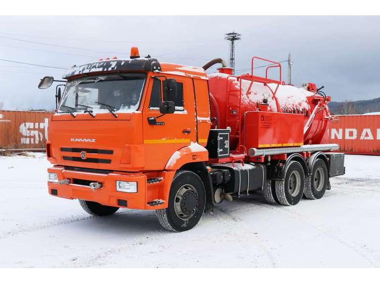Вакуумная илососная машина МВС-10 на шасси КАМАЗ 65115 (насос PNR-124)