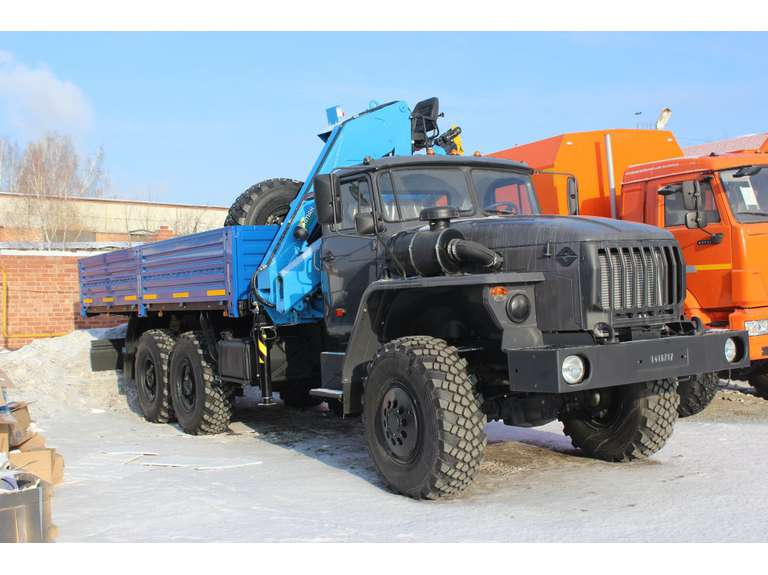 Бортовой Урал 4320 (капотный) с КМУ INMAN ИМ-150