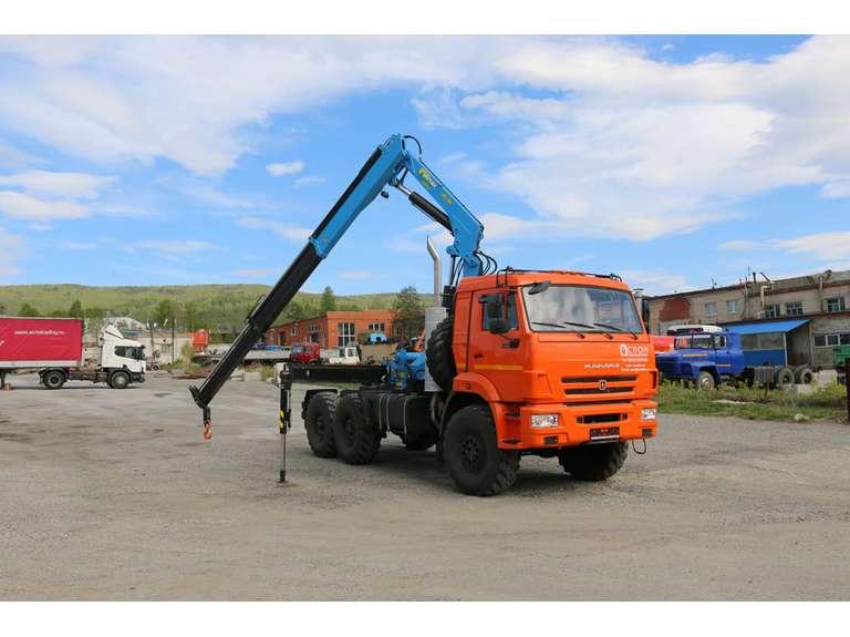 Седельный тягач КАМАЗ 53504 с КМУ