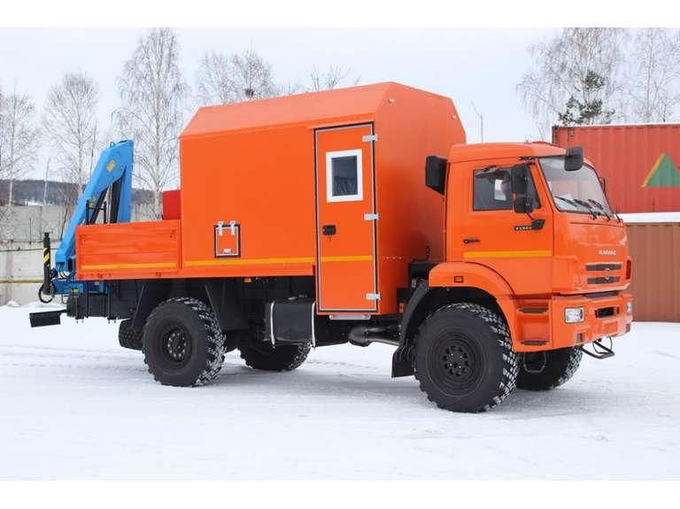 АРОК с КМУ на шасси КАМАЗ 43502