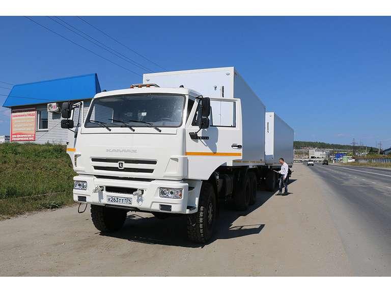 Изотермический фургон на шасси КАМАЗ 65111 + прицеп МАЗ