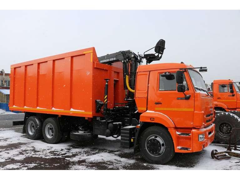 Металловоз КАМАЗ 65115 с КМУ МАЙМАН 110S
