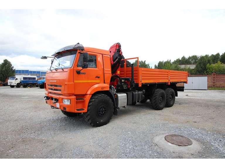 Бортовой автомобиль КАМАЗ 43118-50 с КМУ Palfinger 15500