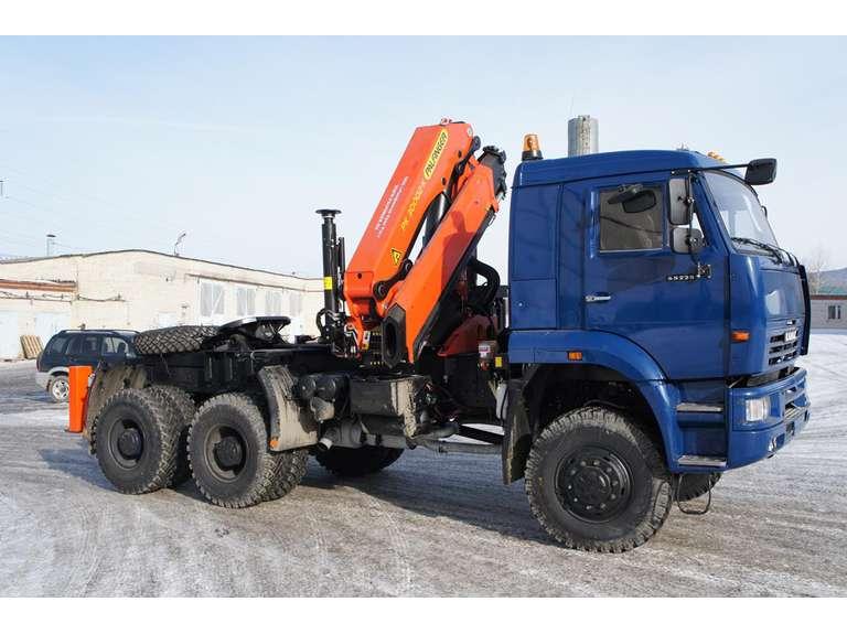 Седельный тягач КАМАЗ 65225-53 с КМУ Palfinger PK 30002-K