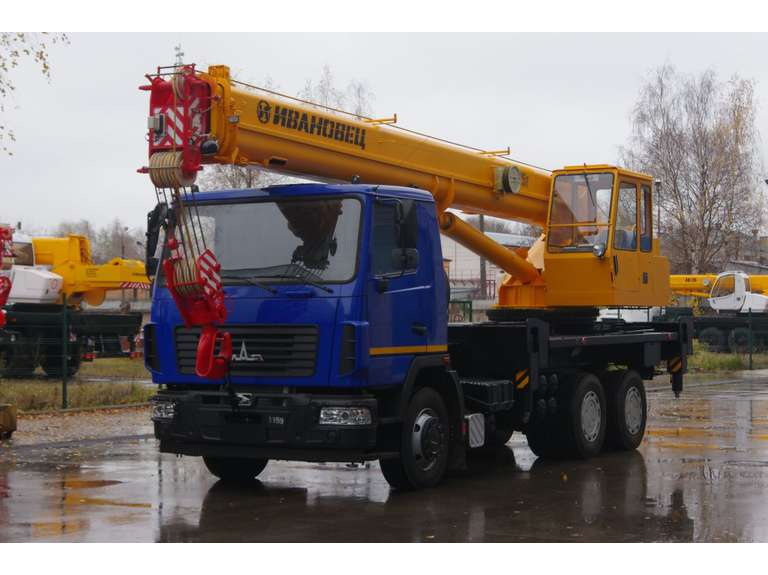 Автокран ИВАНОВЕЦ КС-45717А-1 (ОВОИД) на шасси МАЗ-6312СЗ