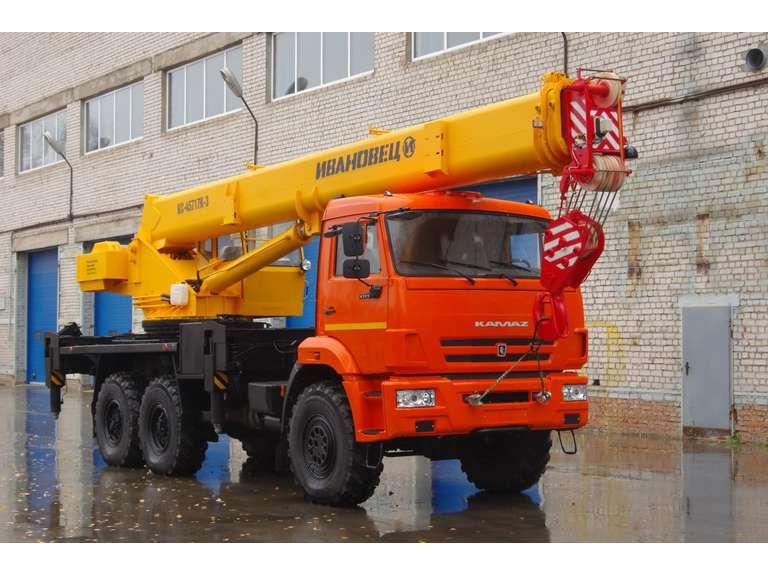 Автокран ИВАНОВЕЦ КС-45717К-3 (ОВОИД) на шасси КАМАЗ-43118