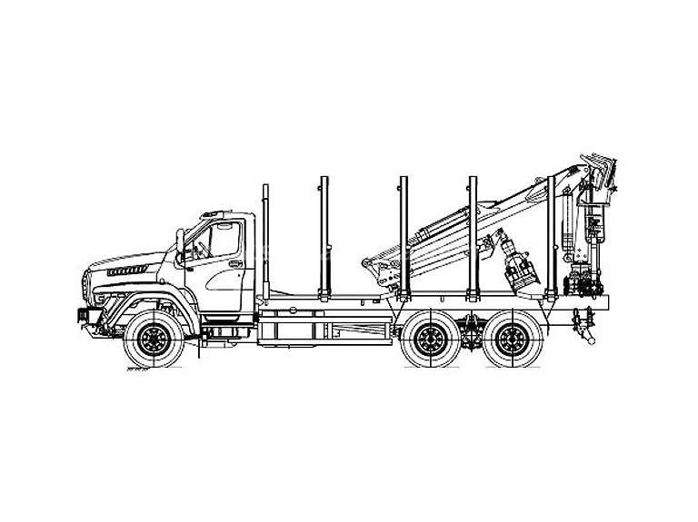Сортиментовоз на шасси УРАЛ NEXT 73945 с гидроманипулятором VM10L