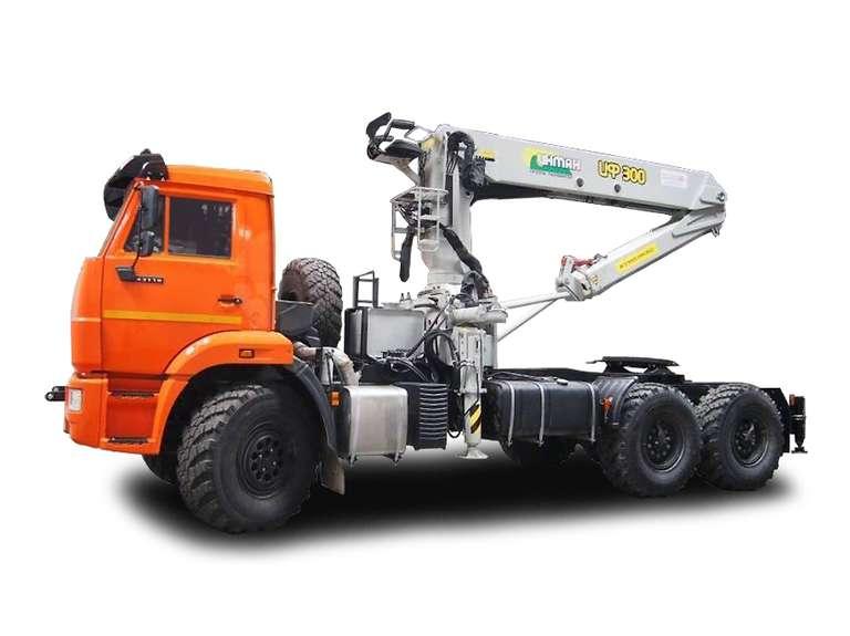 Седельный тягач КАМАЗ 43118-50 с КМУ ИФ-300
