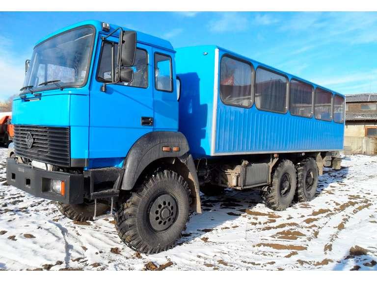 Вахтовый автобус Урал 3255 бескапотный
