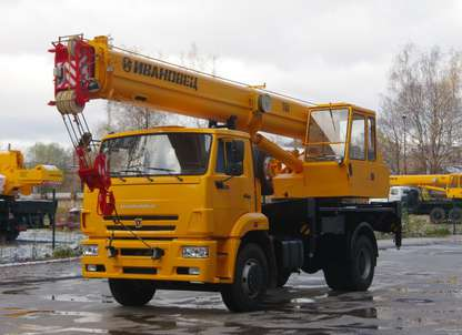 Автокран ИВАНОВЕЦ КС-35714К-3 (ОВОИД) на шасси КАМАЗ-53605