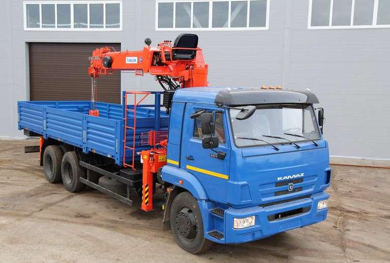 Бортовой автомобиль КАМАЗ 65117-50 с КМУ Kanglim 1256GII