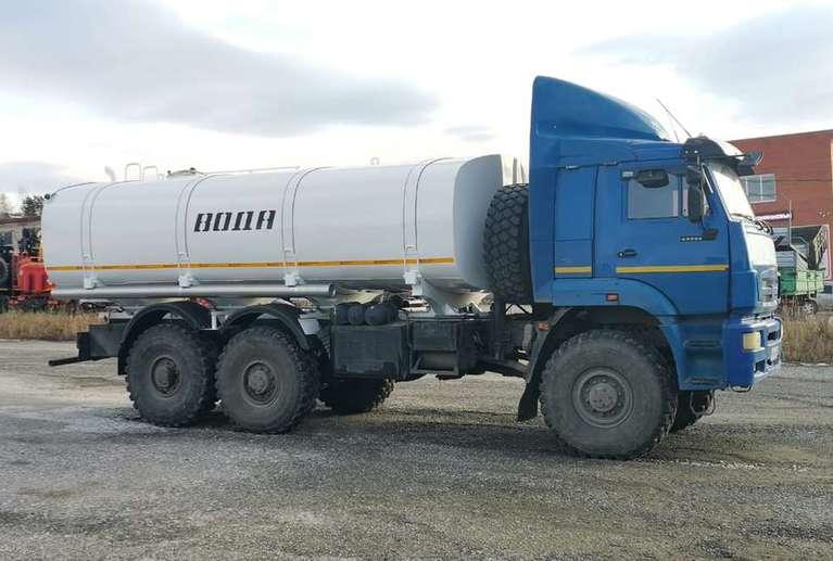 Автоцистерна АЦПТ-18 на давальческом шасси КАМАЗ 65224