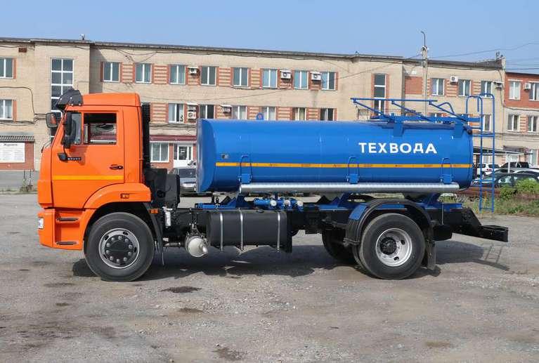 Автоцистерна АЦВ-8 (для техводы и СОЖ) на шасси КАМАЗ 43253
