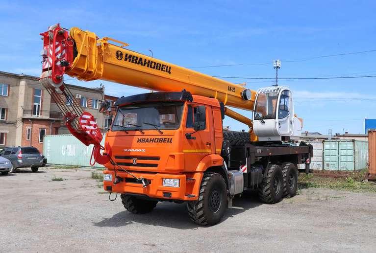 Автокран ИВАНОВЕЦ КС-45717К-ЗР (ОВОИД) на шасси КАМАЗ-43118