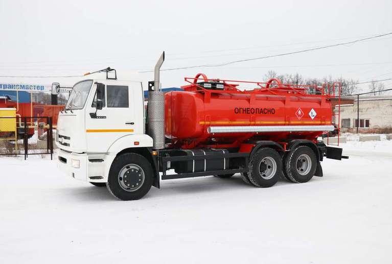 Автотопливозаправщик  АТЗ-11 на шасси КАМАЗ 65115