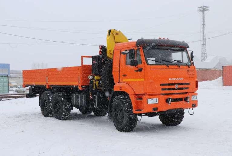 Бортовой КАМАЗ 43118-50 с КМУ HYVA HB150 E2