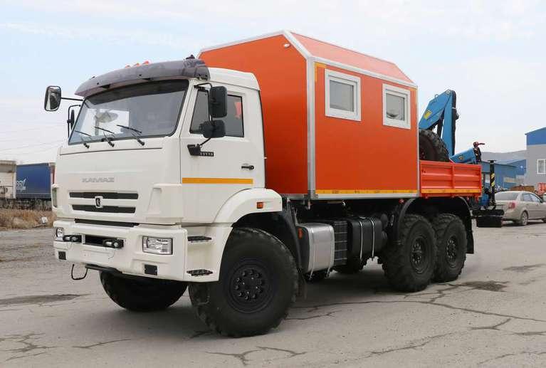 Агрегат ремонта и обслуживания качалок АРОК с КМУ Инман ИМ-50 на шасси КАМАЗ 43118-50