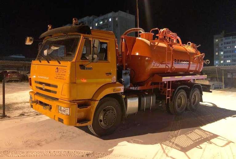 Вакуумная илососная машина МВС-10 на шасси КАМАЗ 65115 (насос КО-507)