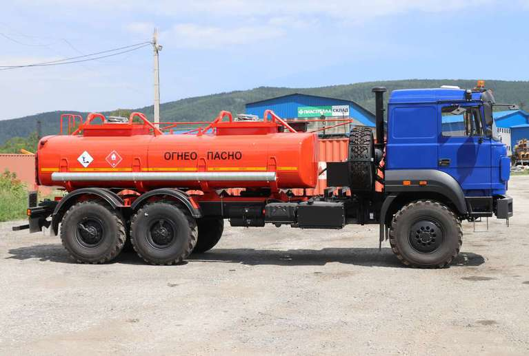 Автотопливозаправщик АТЗ-10 на шасси УРАЛ 4320-82E5