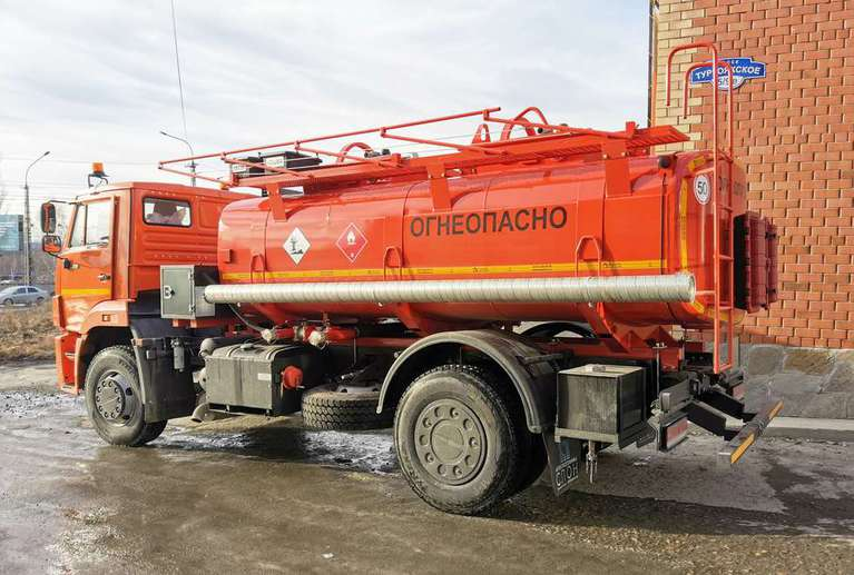 Автотопливозаправщик АТЗ-10 на шасси КАМАЗ 53605-48(A5)