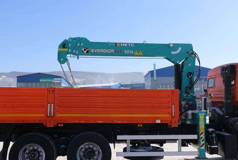 Бортовой КАМАЗ 65115-48 с КМУ Hyundai HKTC HLC-5014L