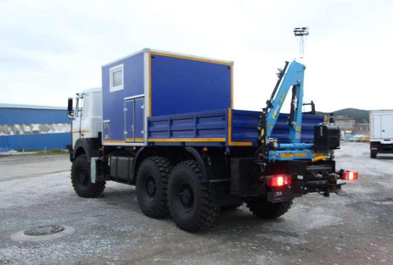 Агрегат ремонта и обслуживания качалок АРОК с КМУ Инман ИМ-20 на шасси МАЗ 6317F9