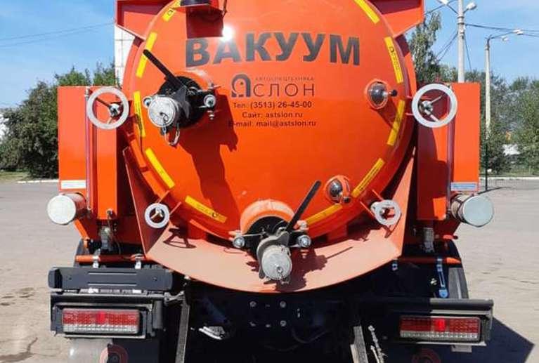 Вакуумная илососная машина МВС-7 на шасси КАМАЗ 65115-50 (насос PN-130)