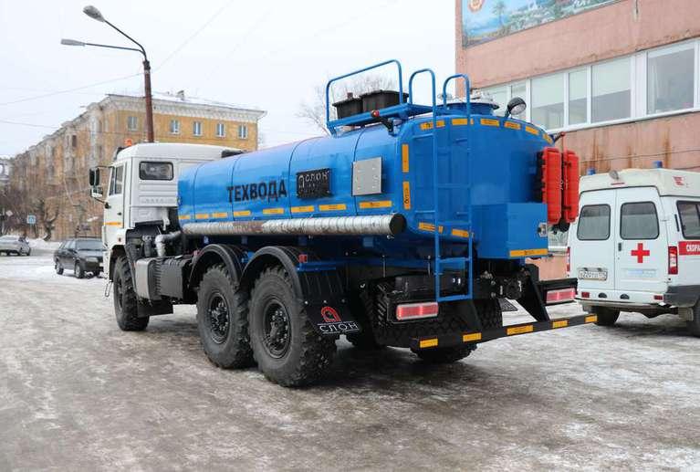 Автоцистерна АЦВ-10 (техвода) на шасси КАМАЗ 43118-50