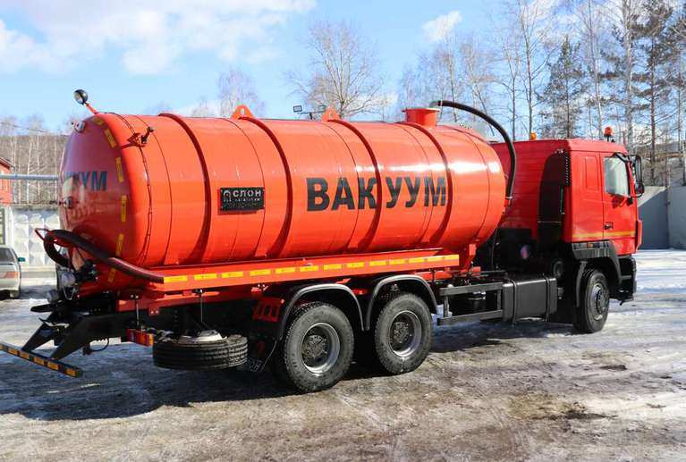 Вакуумная машина МВ-19 на шасси МАЗ 6312С5 (насос КО-510)