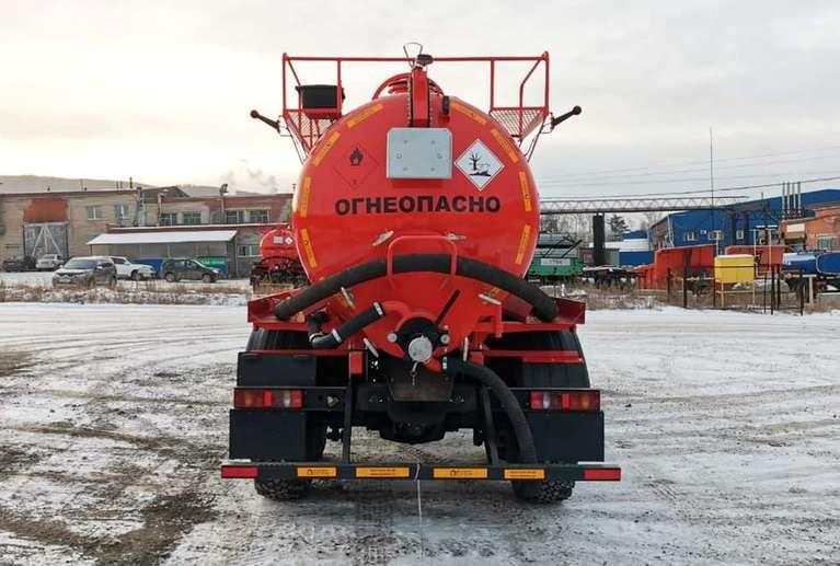 Автоцистерна АКН-10 на шасси УРАЛ 4320-82Е5 (Бескапотный)