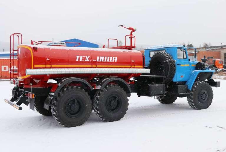 Автоцистерна АЦ-8 на шасси УРАЛ 4320