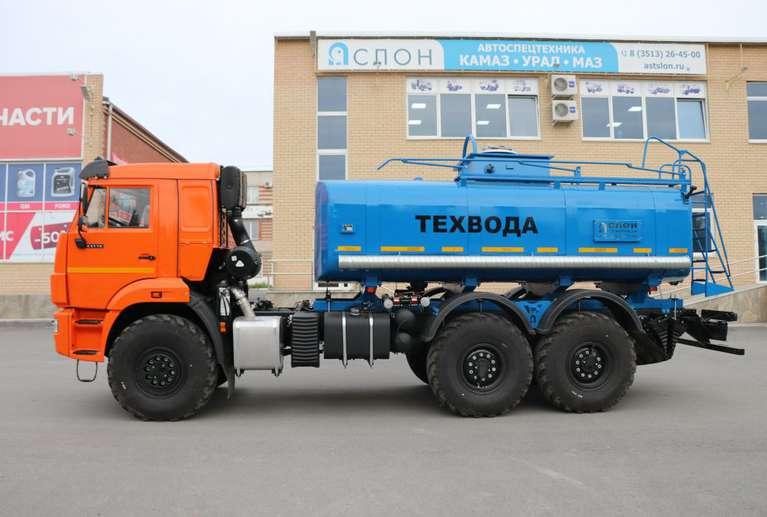 Автоцистерна АЦН-12 (техвода) на шасси КАМАЗ 43118-50