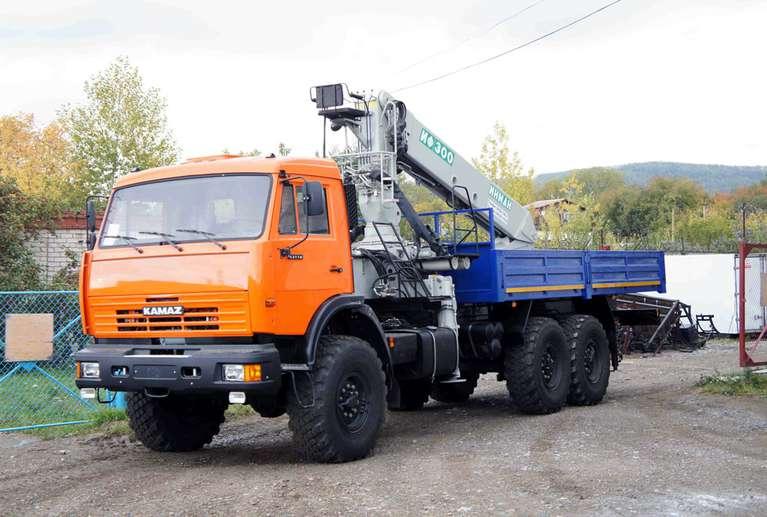 Бортовой автомобиль КАМАЗ 43118 с КМУ ИНМАН