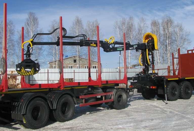 Сортиментовоз на шасси УРАЛ Бескопотный 4320 с гидроманипулятором VM10L