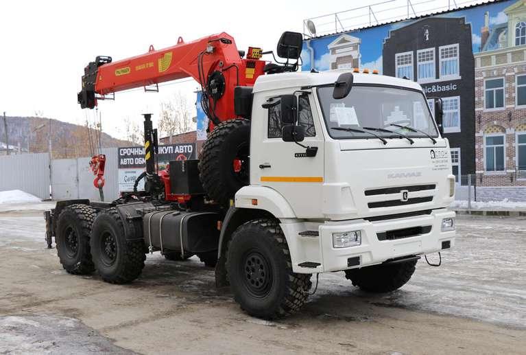 Седельный тягач КАМАЗ 43118-50 с КМУ INMAN IT-180
