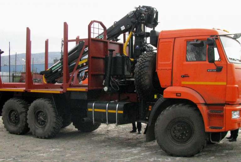 Сортиментовоз на шасси КАМАЗ 43118-50 с гидроманипулятором VC8L