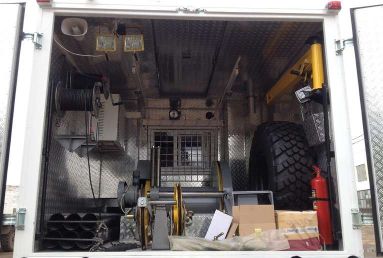 Каротажный подъемник ПКС-5-05 на шасси КАМАЗ 43118-50