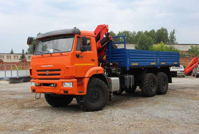 Автомобиль бортовой КАМАЗ 43118-50 с КМУ Palfinger 10000
