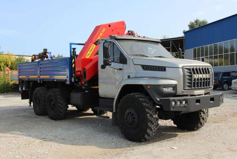 Бортовой автомобиль Урал NEXT 4320-72Е5Г38 с КМУ ИМ-320