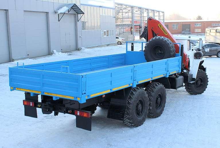Бортовой автомобиль Урал 4320 с КМУ РК-15500А