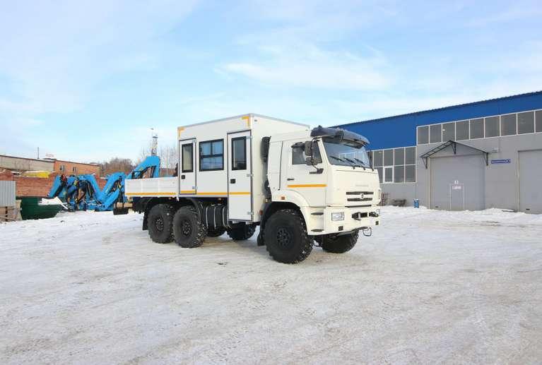 Грузопассажирский автомобиль (ГПА) на шасси КАМАЗ 43118-50 с КМУ ИМ-55 (8 мест)